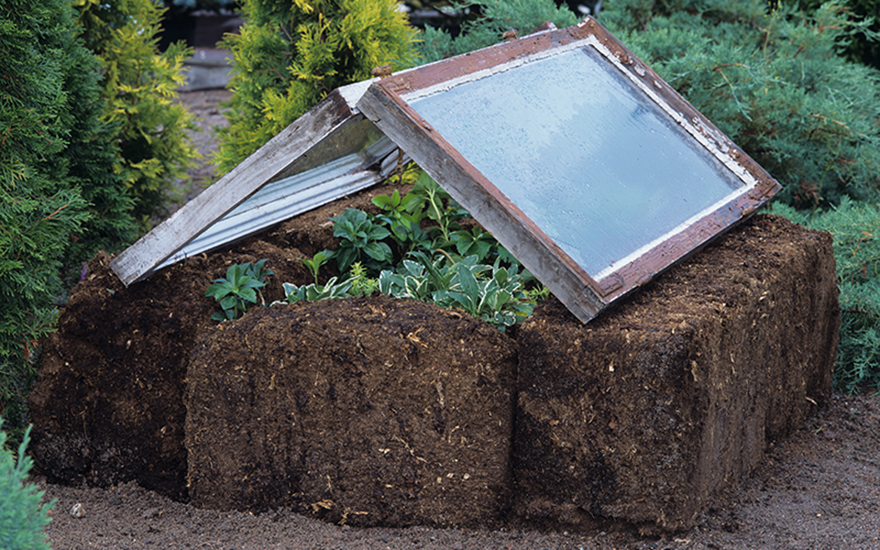 Torvblock med odlingsfönster