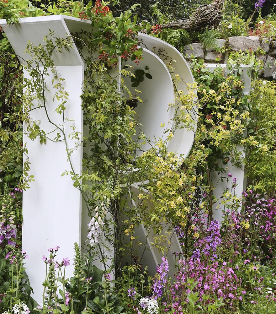 R för ro i trädgården