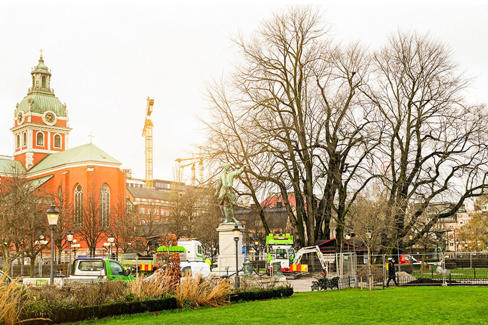 Information hur almarna i Kungsträdgården bevarades
